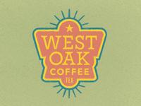 West Oak Coffee Badge