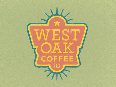 West Oak Coffee Badge lettering logotype coffee texas spurs shield logo badge