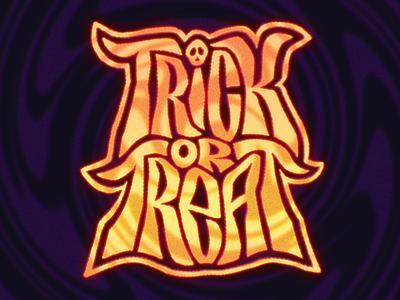Twick-O-Tweet skull trickortreat lettering spoopy spooky halloween halloweenie