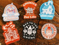 New Gnome Cones Stickers!
