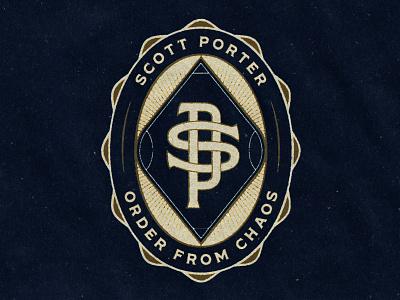 Scott Porter Badge monogram shield badge logo