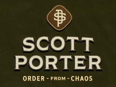 Scott Porter Logo Lockup texture monogram branding logotype logo