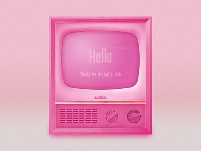 Hello debut illustrator television analog