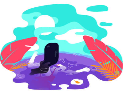 Hot Spring in Mexico mexico travel hotspring illustrator illustration