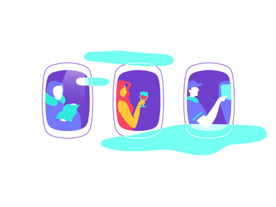 How a flight should feel like illustration airline flight trip travel