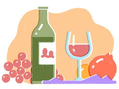 Wine tasting tasting fruits wine illustrations