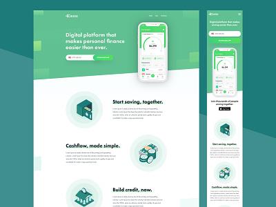 Financial Website Design homepage ui landing ui custom finance illustrations homepage design finance app cashflow finance page financial website