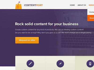 ContentFort ui ux webdesign