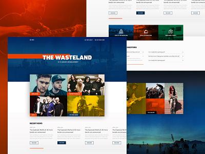 Rock Festival Concept design fictional concept template bands music festival rock