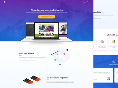 Landing Page Design ui design page landing