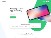Superapp app landingpage