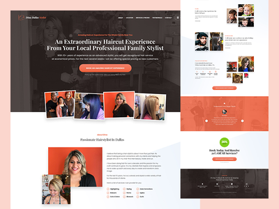 Hair Stylist Website design website stylist hair