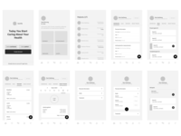 Health App Wireframes