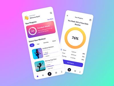 Fitness App clean app ui figmadesign design figma
