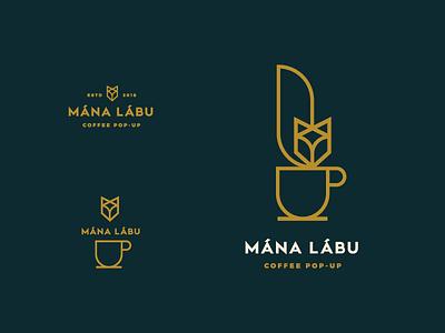Coffee pop-up logo icon art line logo cup fox coffee