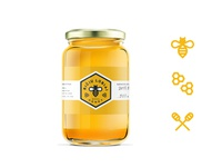 Bee treasure honey jar