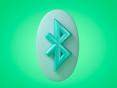 Bluetooth 3d Icon typography logo cinema4d 3d bluetooth branding icon ui uxui 3d animated icons 3d app icon 3d icon 3d icon png 3d animation 3d rendering icon 3d art icon design