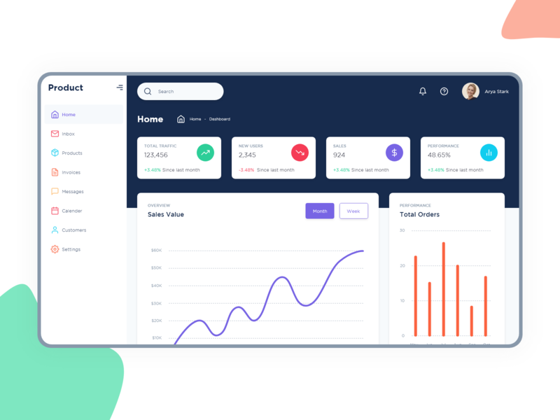Free Dashboard UI Kit for download interaction web design ux ui