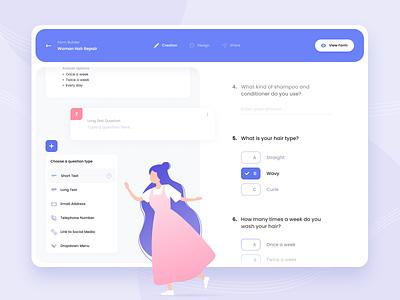 Web App Forward Forms typogaphy pink violet gradient desktop beauty industry form survey questionnaire web web app design web app app design visual design ux design ux ui design ui