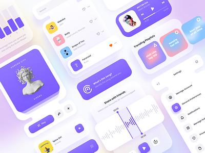 UI Widgets & Components ui kit components mobile visual design gradient app design ux design ui design ux ui