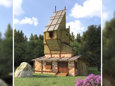 Medieval House : Game asset design