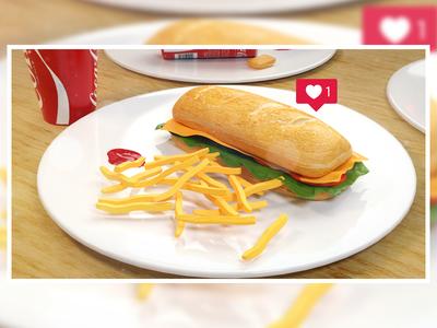 Sub Sandwich : 3D food visualization