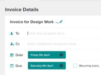 Client App Invoice Creation