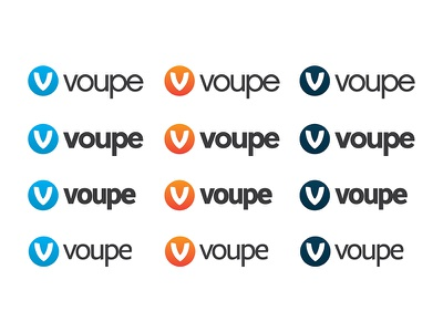 Colour Type Ideas logomark colours graidents v comparison typeface voupe