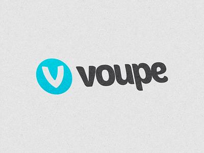 Voupe Logo voupe logo logomark texture paper