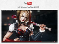 Youtube Player HD PSD