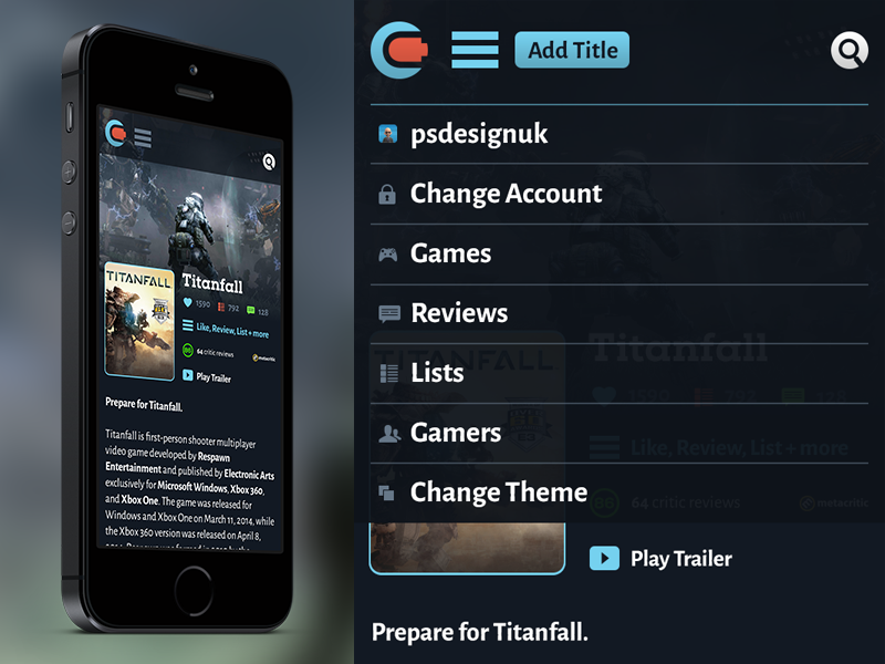 Contrllr Game Page Mobile contrllr mobile iphone responsive phone dropdown search