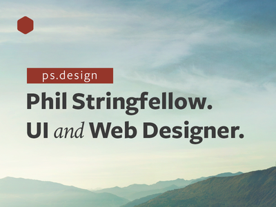 ps.design v9 Idea II type logo red header image website ux ui