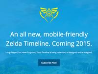 Zelda Timeline Landing Page
