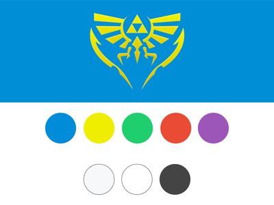 Zelda Timeline Colour Palette color colour blue yellow red purple green palette type zelda game