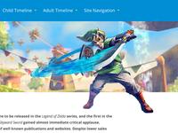 Zelda Timeline Game Page