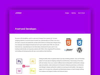 v11 Website one-page minimal responsive vag rounded purple portfolio design web