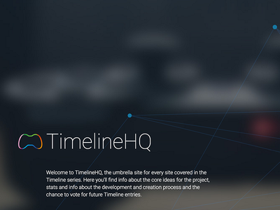 TimelineHQ Teaser umbrella teaser image text logo design web