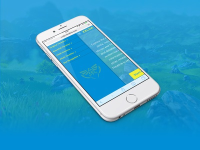 Zelda Timeline Responsive Menu zelda ios iphone development responsive blue ui design web