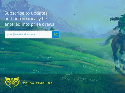 Unused Zelda Timeline Concept zelda ios iphone development responsive blue ui design web