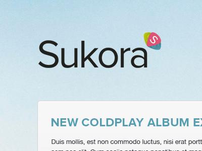 Sukora I logo sukora music web design photoshop design
