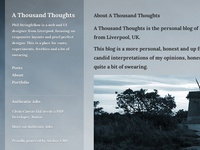 A Thousand Thoughts Blog