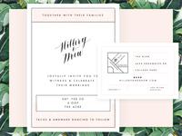 Hillery & Drew Invitation