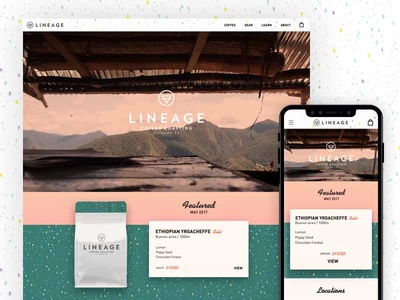 Lineage Coffee Roasters 2017 Site