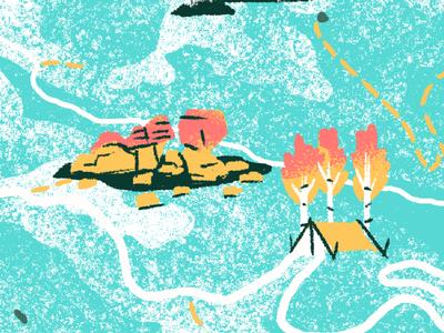 Mushroom Rocks Illustration