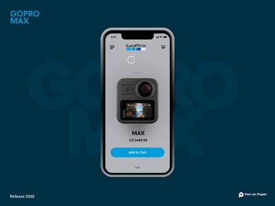 GoProMAX ergonomics ui design uidesign design app design animations uiux penonpaper ui animation aftereffects gopromax interaction camera gopro
