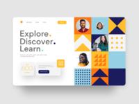 Collaborative website learn website design landingpage landing page interactive website app adobexd application uiux ux user experience ui