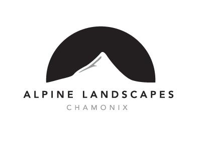Alpine Landscapes mountain landscape gardening logo chamonix