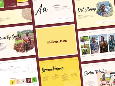 Harvest Fund Brand Guideline identity branding brand guidelines non-profit typography branding