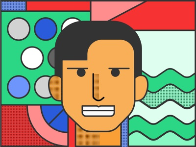 New Year, New Me dots geometry colourful ux ui illustration
