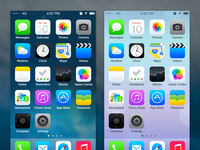 Redesign ios7 lightdark